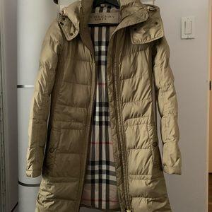 Burberry Ladies Hooded Puffer Jacket.